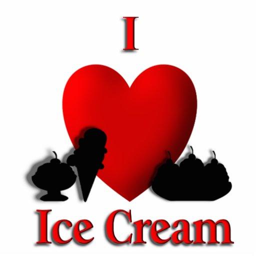 I Heart Ice Cream Photo Cutouts