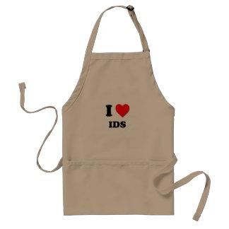 I Heart Ids Standard Apron