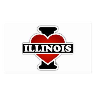 I Heart Illinois Pack Of Standard Business Cards