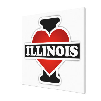 I Heart Illinois Gallery Wrapped Canvas