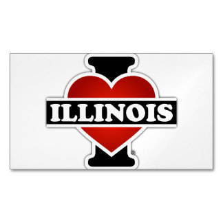 I Heart Illinois Magnetic Business Cards