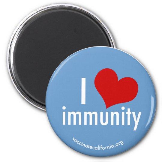 I Heart Immunity Magnet Round