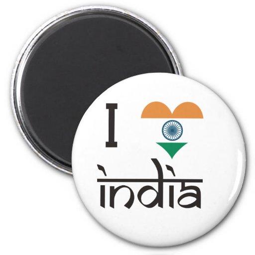 """I """"Heart"""" India - I Love India Magnets"""