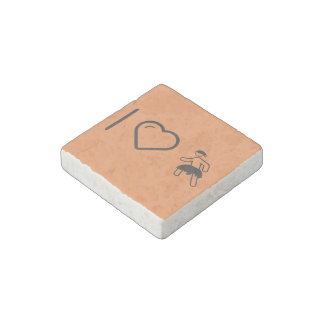 I Heart Indian Peoples Stone Magnet