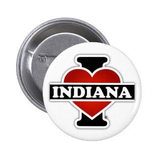 I Heart Indiana 6 Cm Round Badge
