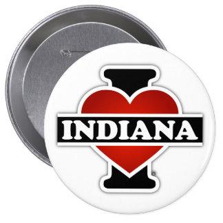 I Heart Indiana 10 Cm Round Badge