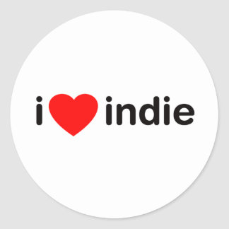 I Heart Indie Stickers