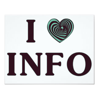 I Heart Info 11 Cm X 14 Cm Invitation Card