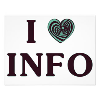 I Heart Info Personalized Invites