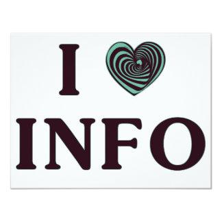 """I Heart Info 4.25"""" X 5.5"""" Invitation Card"""