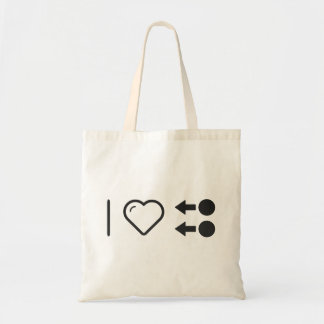 I Heart Instructions Budget Tote Bag