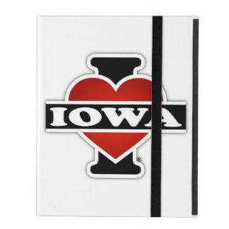 I Heart Iowa iPad Folio Cover