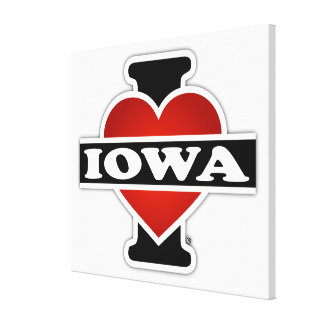 I Heart Iowa Stretched Canvas Prints