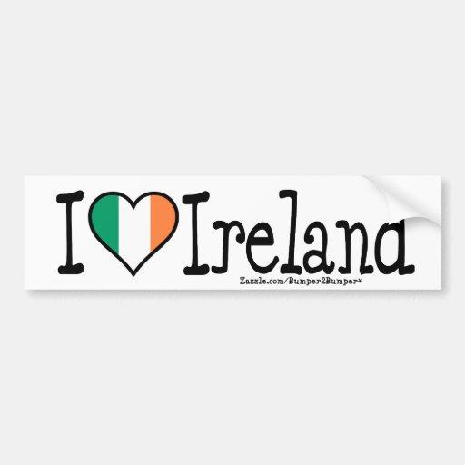 I HEART IRELAND BUMPER STICKERS