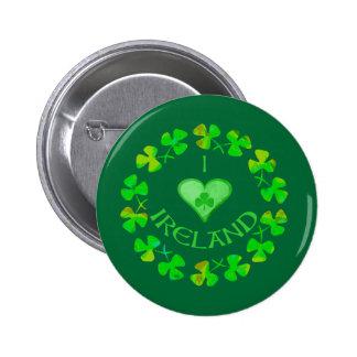 I Heart Ireland Buttons