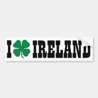 I [heart] Ireland - Shamrock Car Bumper Sticker