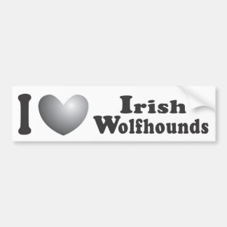 I Heart Irish Wolfhounds - Bumper Sticker Car Bumper Sticker