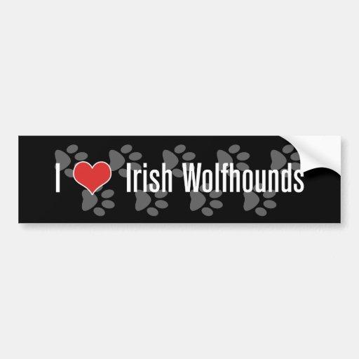I (heart) Irish Wolfhounds Bumper Stickers