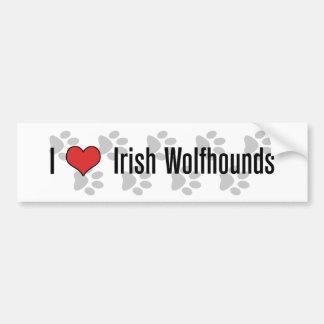 I heart Irish Wolfhounds Bumper Stickers