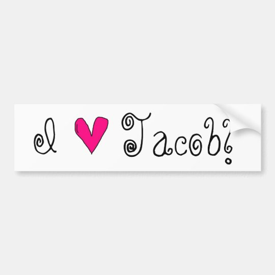 I Heart Jacob Bumper Sticker