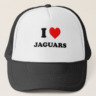 I Heart Jaguars Trucker Hat