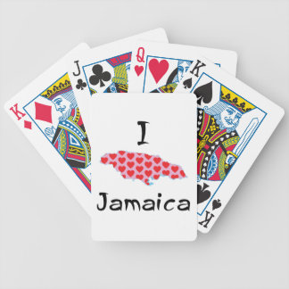 I heart Jamaica Bicycle Playing Cards