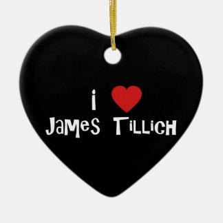 I Heart James Tillich Ceramic Heart Decoration