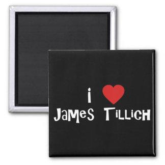 I Heart James Tillich Square Magnet