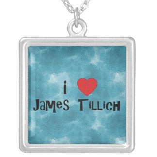 I Heart James Tillich Square Pendant Necklace