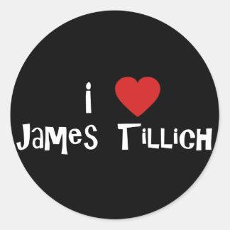 I Heart James Tillich Round Sticker