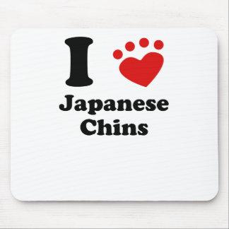I Heart Japanese Chins Mousepad