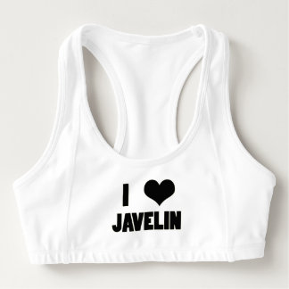 I Heart Javelin, Javelin Throw Sports Bra