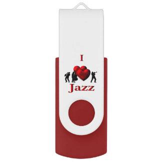 I Heart Jazz USB Flash Drive