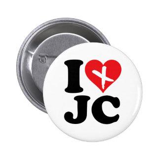 I Heart JC 6 Cm Round Badge