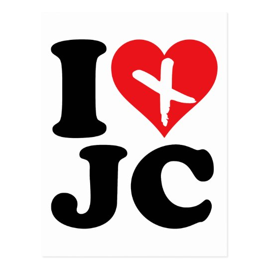 I Heart JC Postcard