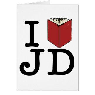 I Heart JD Greeting Card