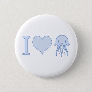 I Heart Jellyfish 6 Cm Round Badge