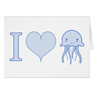 I Heart Jellyfish Card