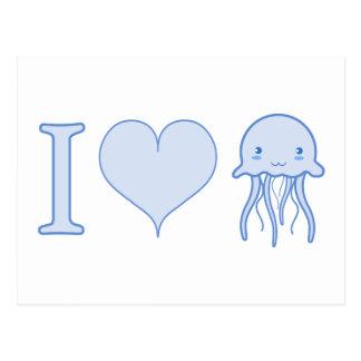 I Heart Jellyfish Post Card