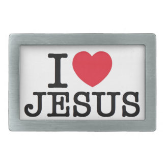 I heart Jesus Rectangular Belt Buckle