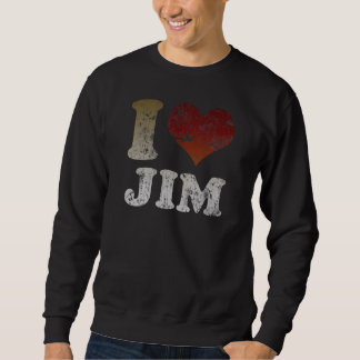 I heart Jim Pull Over Sweatshirts