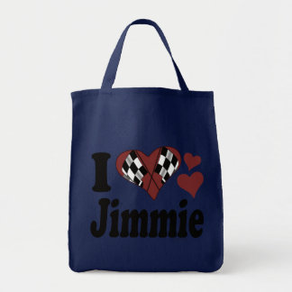 I Heart Jimmie Grocery Tote Bag