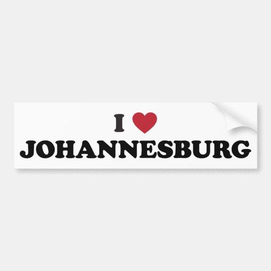 I Heart Johannesburg South Africa Bumper Sticker