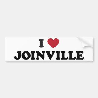 I Heart Joinville Brazil Bumper Sticker