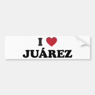 I Heart Juarez Mexico Bumper Sticker