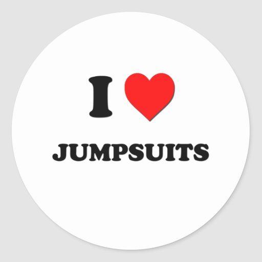 I Heart Jumpsuits Stickers