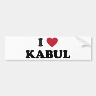 I Heart Kabul Afghanistan Bumper Sticker