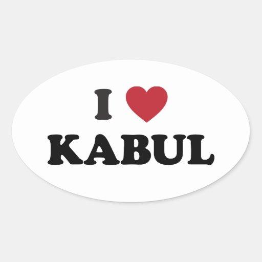 I Heart Kabul Afghanistan Oval Stickers