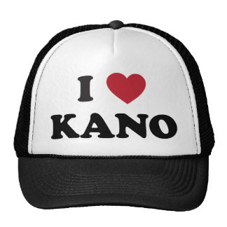 I Heart Kano Nigeria Hats
