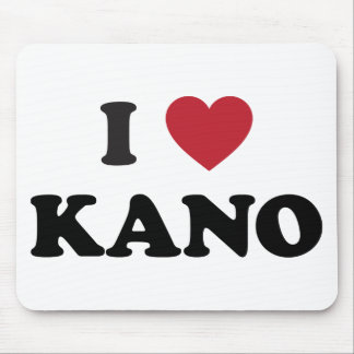 I Heart Kano Nigeria Mousepads